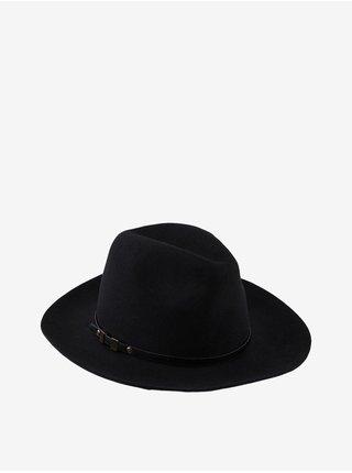 Černý vlněný klobouk Pieces Flasa