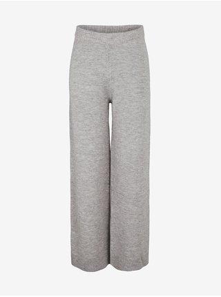 Nohavice pre ženy Pieces - sivá