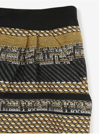 Žluto-černá pruhovaná sukně CAMAIEU