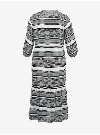 Dámske šaty na denné nosenie pre ženy ONLY CARMAKOMA - čierna, biela