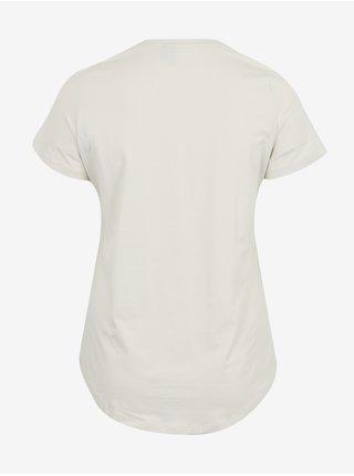Krémové tričko VERO MODA CURVE