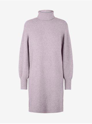 Fialové svetrové šaty Pieces Skyla