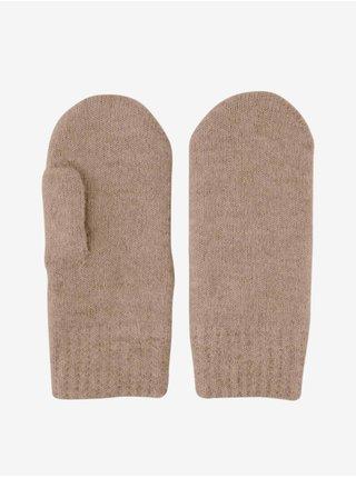 Rukavice pre ženy Pieces - hnedá