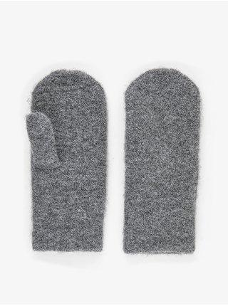 Rukavice pre ženy Pieces - sivá