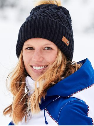 Černá dámská žebrovaná zimní čepice s bambulí Roxy Ski Chic