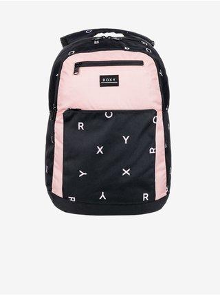 Růžovo-černý holčičí vzorovaný batoh Roxy Here You Are