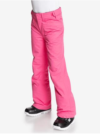 Neonovo ružové dievčenské športové nohavice Roxy Back Yard Girl