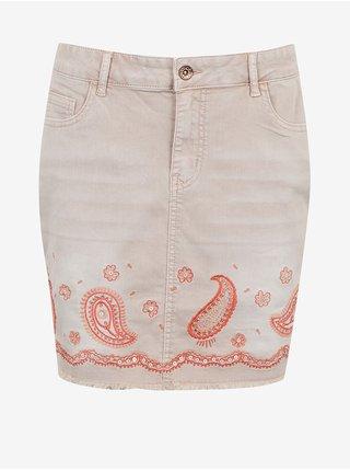 Světle růžová  džínová sukně Desigual