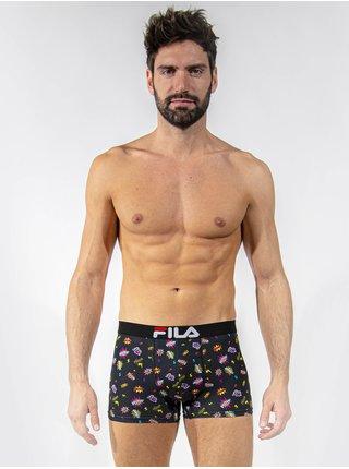 Černé pánské vzorované boxerky FILA