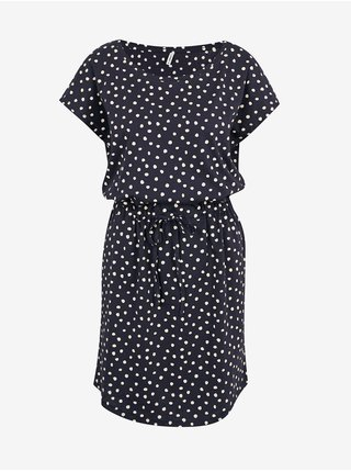 Tmavomodré bodkované šaty Only