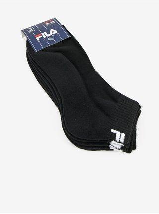 Sada troch párov pánskych členkových ponožiek v čiernej farbe FILA