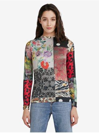 Tričká s dlhým rukávom pre ženy Desigual - kaki