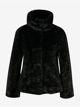 Černý dámský kožich z umělé kožešiny GAS Delizia