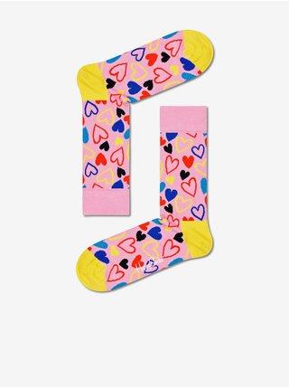 Ponožky pre ženy Happy Socks - ružová, žltá