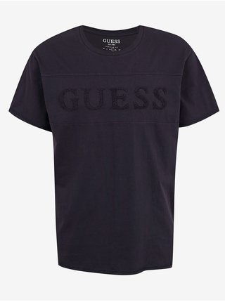 Tmavomodré pánske tričko Guess