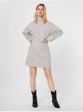 Dámske šaty na denné nosenie pre ženy VERO MODA - svetlosivá