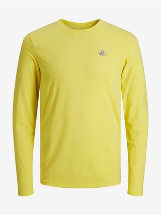 Tričká s dlhým rukávom pre mužov Jack & Jones - žltá