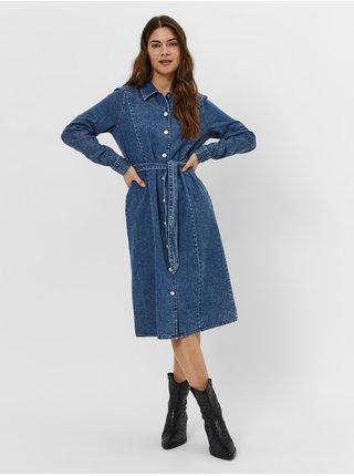 Dámske šaty na denné nosenie pre ženy VERO MODA - modrá