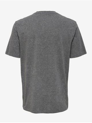 Tričká s krátkym rukávom pre mužov ONLY & SONS - sivá