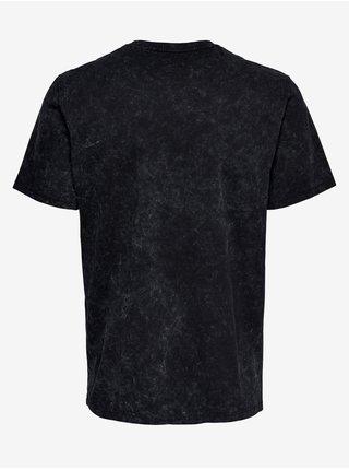 Tričká s krátkym rukávom pre mužov ONLY & SONS - čierna