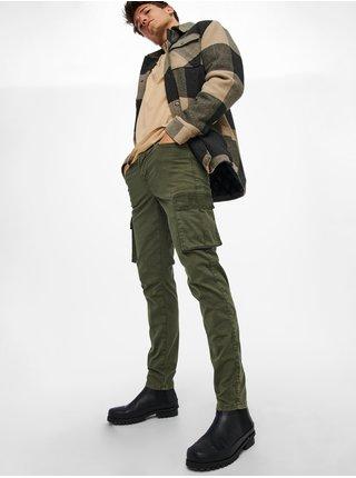 Voľnočasové nohavice pre mužov ONLY & SONS - kaki