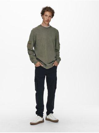 Voľnočasové nohavice pre mužov ONLY & SONS - čierna