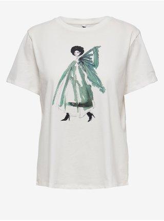 Tričká s krátkym rukávom pre ženy Jacqueline de Yong - biela