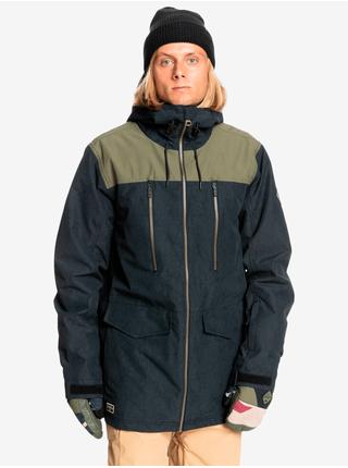 Zimné bundy pre mužov Quiksilver - tmavozelená