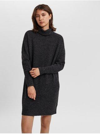 Dámske šaty na denné nosenie pre ženy VERO MODA - tmavosivá