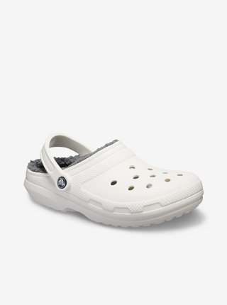 Bílé unisex pantofle Crocs