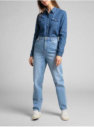 Straight fit pre ženy Lee - modrá