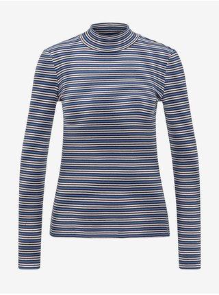 Tričká s dlhým rukávom pre ženy Lee - modrá