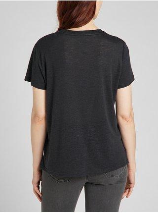 Tričká s krátkym rukávom pre ženy Lee - čierna
