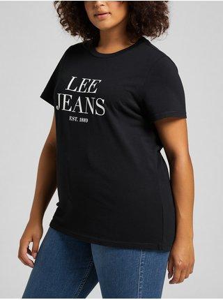 Čierne dámske tričko Lee Graphic