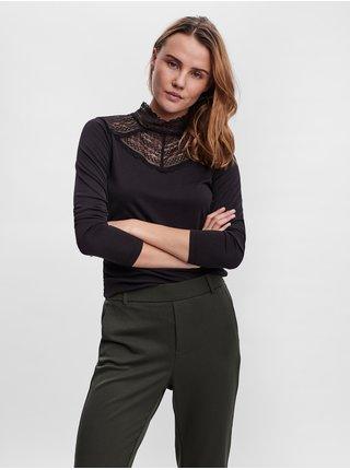 Tričká s dlhým rukávom pre ženy VERO MODA - čierna