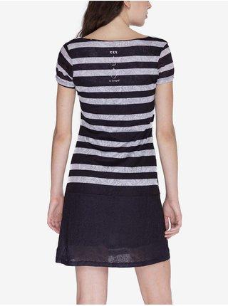 Šaty Woman Knitted Dress Short Sleeve Desigual