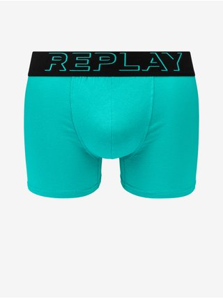 Boxerky Boxer Style 2 T/C Cuff 3D Logo 2Pcs Box - Emerald/Black Replay