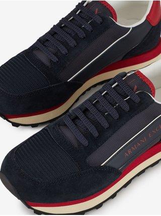 Tenisky, espadrilky pre mužov Armani Exchange - tmavomodrá, červená