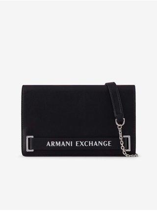 Černá malá crossbody kabelka Armani Exchange