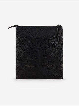 Tašky, ľadvinky pre mužov Armani Exchange - čierna