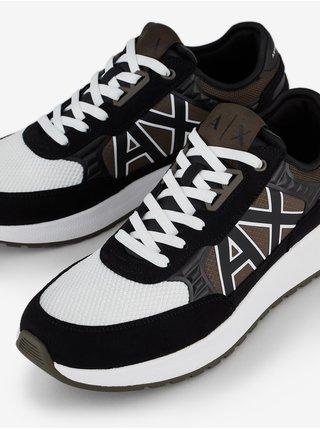 Tenisky, espadrilky pre mužov Armani Exchange - čierna, hnedá