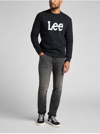 Mikiny bez kapuce pre mužov Lee - čierna
