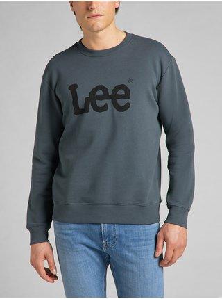 Mikiny bez kapuce pre mužov Lee - petrolejová