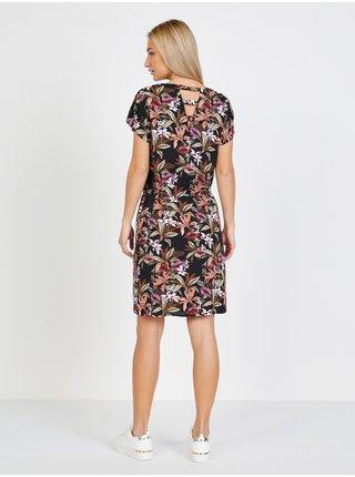 Čierne šaty s kvetovaným vzorom Only Nova