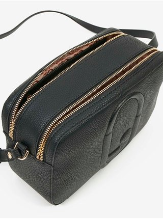 Černá dámská vzorovaná malá crossbody kabelka s ozdobnými detaily Liu Jo