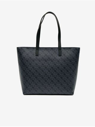 Černá dámská vzorovaná velká kabelka Liu Jo
