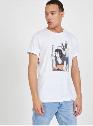 Bílé pánské tričko s potiskem DOBRO.
