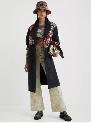 Černý dámský vlněný kabát Desigual Tomichi