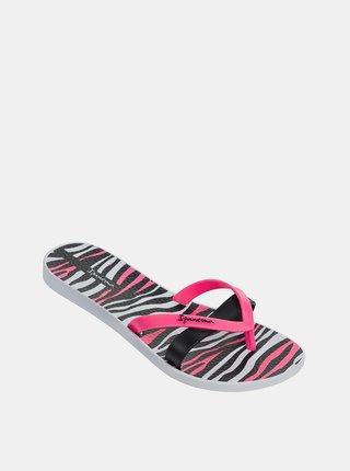 Čierno-ružové dámske žabky Ipanema