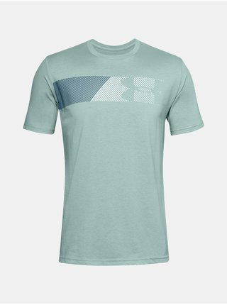 Tričko Under Armour UA FAST LEFT CHEST 2.0 SS -světle modrá
